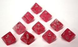 10D10, PINK WITH SILVER -  GHOSTLY GLOW