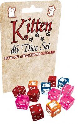 12 KITTEN D6 DICE SET