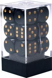 12D6, BLACK WITH GOLD -  OPAQUE