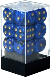 12D6, BLUE WITH GOLD -  VORTEX