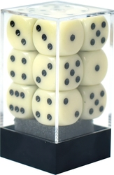 12D6, IVORY AND BLACK -  OPAQUE