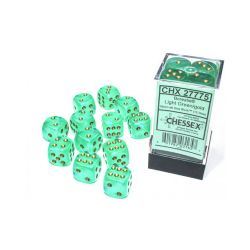 12D6, LIGHT GREEN WITH GOLD - GLOW IN THE DARK -  BOREALIS