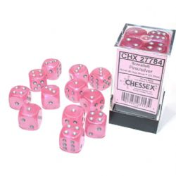 12D6, PINK WITH SILVER - GLOW IN THE DARK -  BOREALIS