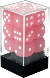 12D6, PINK WITH WHITE -  FROSTED