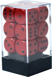 12D6, RED AND BLACK -  OPAQUE