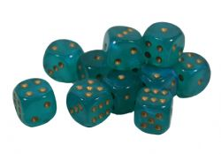 12D6, TEAL WITH GOLD - GLOW IN THE DARK -  BOREALIS
