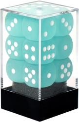 12D6, TEAL WITH WHITE -  FROSTED