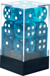 12D6, TEAL WITH WHITE -  TRANSLUCENT