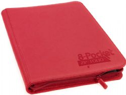 16-PAGE PORTFOLIO -  16 PAGES RED ZIPFOLIO XENOSKIN THAT HOLDS 320 CARDS