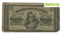 1870 -  1870 25-CENT NOTE, DICKINSON/HARINGTON (G)