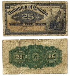 1900 -  1900 25-CENT NOTE, BOVILLE (G)