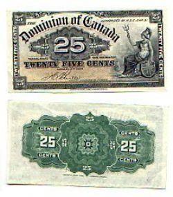 1900 -  1900 25-CENT NOTE, BOVILLE (UNC)