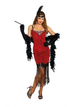 1920 -  RUBY RED FLAPPER COSTUME (ADULT)