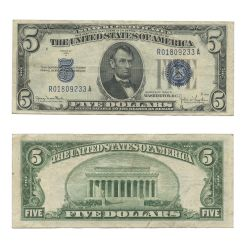1934 -  UNITED STATES 5-DOLLAR BILL