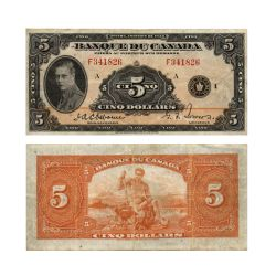 1935 -  1935 5-DOLLAR NOTE, OSBORNE/TOWERS (EF)