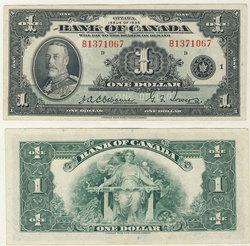 1935 -  1935 ENGLISH 1-DOLLAR NOTE, OSBORNE/TOWERS (EF)