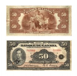 1935 -  1935 FRENCH 50-DOLLAR NOTE, OSBORNE/TOWERS (VF)