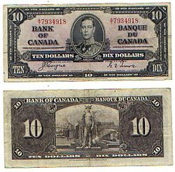 1937 -  1937 10-DOLLAR NOTE, COYNE/TOWERS (VF)