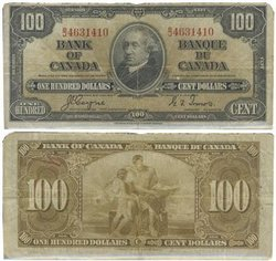 1937 -  1937 100-DOLLAR NOTE, COYNE/TOWERS (F)