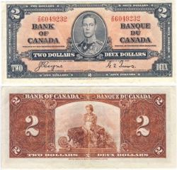 1937 -  1937 2-DOLLAR NOTE,  COYNE/TOWERS (VF)