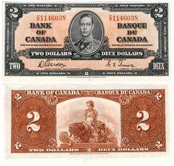 1937 -  1937 2-DOLLAR NOTE, GORDON/TOWERS (UNC)