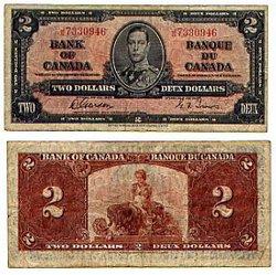 1937 -  1937 2-DOLLAR NOTE, GORDON/TOWERS (VG)