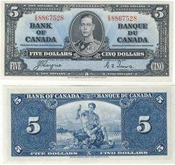 1937 -  1937 5-DOLLAR NOTE, COYNE/TOWERS (CUNC)