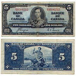 1937 -  1937 5-DOLLAR NOTE, COYNE/TOWERS (VF)