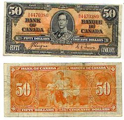 1937 -  1937 50-DOLLAR NOTE, COYNE/TOWERS (F)