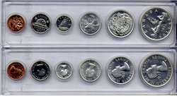 1953-79 -  1956 CIRCULATION COIN PROOF-LIKE SET