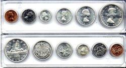 1953-79 -  1957 CIRCULATION COIN SET