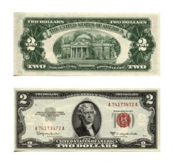 1953 -  UNITED STATES 2-DOLLAR BILL (UNC)