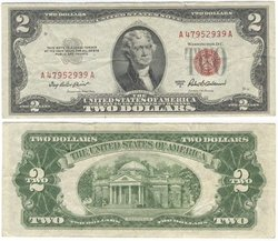 1953 -  UNITED STATES 2-DOLLAR BILL