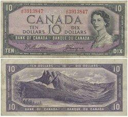 1954 - DEVIL'S FACE PORTRAIT -  1954 10-DOLLAR NOTE, BEATTIE/COYNE (VF)