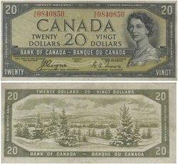 1954 - DEVIL'S FACE PORTRAIT -  1954 20-DOLLAR NOTE, COYNE-TOWERS (VF)