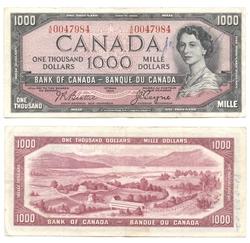 1954 - MODIFIED PORTRAIT -  1954 1000-DOLLAR NOTE, BEATTIE/COYNE (VG)