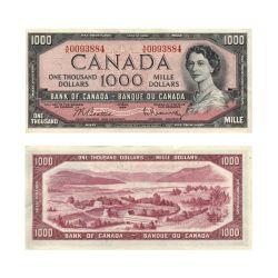 1954 - MODIFIED PORTRAIT -  1954 1000-DOLLAR NOTE, BEATTIE/RASMINSKY (EF)