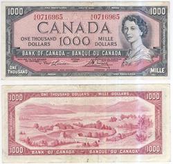 1954 - MODIFIED PORTRAIT -  1954 1000-DOLLAR NOTE, LAWSON/BOUEY (F)