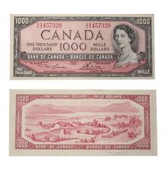 1954 - MODIFIED PORTRAIT -  1954 1000-DOLLAR NOTE, LAWSON/BOUEY (VF)