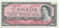 1954 - MODIFIED PORTRAIT -  1954 1000-DOLLAR NOTE, THIESSEN/CROW (AU)