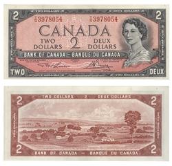 1954 - MODIFIED PORTRAIT -  1954 2-DOLLAR NOTE, LAWSON/BOUEY (UNC), PACK OF 100 NOTES (UNC)