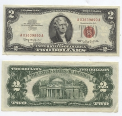 1963 -  UNITED STATES 1963 2-DOLLAR BILL (EF)