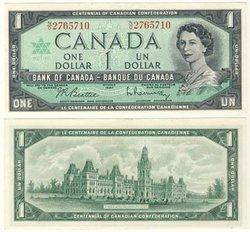 1967 -  1967 1-DOLLAR NOTE, BEATTIE/RASMINSKY (AU)