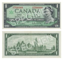 1967 -  1967 1-DOLLAR NOTE, BEATTIE/RASMINSKY (EF)