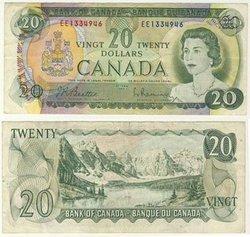 1969 -  1969 20-DOLLAR NOTE, BEATTIE/RASMINSKY (F)