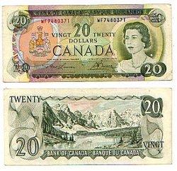 1969 -  1969 20-DOLLAR NOTE, LAWSON/BOUEY (F)