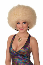 1970 -  AFRO WIG - BLOND (ADULT) -  AFRO