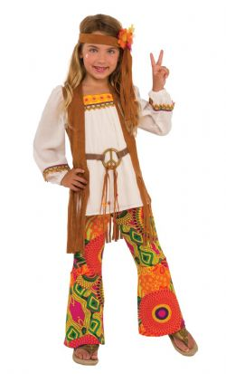 1970 -  FLOWER CHILD COSTUME (CHILD)