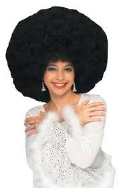 1970 -  GIANT AFRO WIG - BLACK -  AFRO