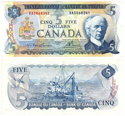 1972 -  1972 5-DOLLAR NOTE, LAWSON/BOUEY (EF)